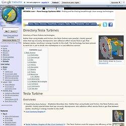 Directory:Tesla Turbines