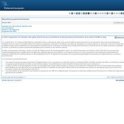 Suspension de l'adoption des lignes directrices sur la coexistence et des processus d'autorisation de la culture d'OGM en Italie - E-005951/2011