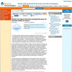 Les lignes directrices développées par le Cloud Select Industry Group
