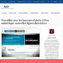 Travailler avec les lanceurs d'alerte à l'ère numérique: nouvelles lignes directrices - Observatoire Arabe du Journalisme - AJO
