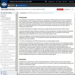 ISO26000:2010(fr), Lignes directrices relatives à la responsabilité sociétale