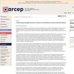 L'ARCEP adopte des lignes directrices relatives à la tarification des réseaux d'initiative publique