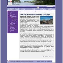 DIREN Aquitaine - Etat de la modernisation en Aquitaine