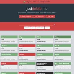 Um diretório de links diretos para deletar sua conta em serviços da web.