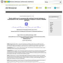 Decreto Direttoriale del 8 luglio 2015 n. 1523 - Atti Ministeriali MIUR