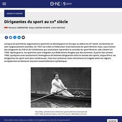Dirigeantes du sport au XXe siècle