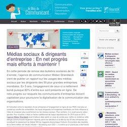 Médias sociaux & dirigeants d'entreprise : En net progrès mais efforts à maintenir