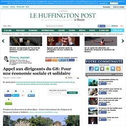 Thierry Jeantet: Appel aux dirigeants du G8: Pour une économie sociale et solidaire