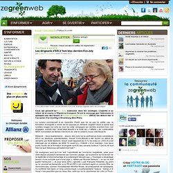 Les dirigeants d'EELV font bloc derrière Eva Joly
