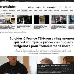 """France Télécom : cinq moments marquants du procès des anciens dirigeants pour """"harcèlement moral"""""""