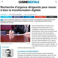 Recherche d'urgence dirigeants pour mener à bien la transformation digitale