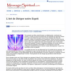 L'Art de Diriger notre Esprit : Spirituel Messager