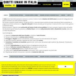 Diritti umani in Italia - Amnesty International Italia