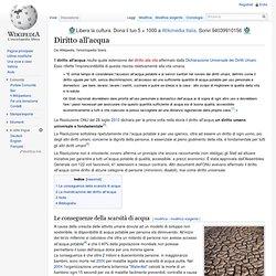 Diritto all'acqua wikipedia