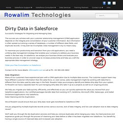 Dirty Data in Salesforce