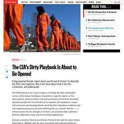 The CIA's Dirty Playbook Is About to Be Opened