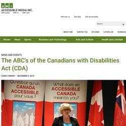 The ABC's of the Canadians with Disabilities Act (CDA)