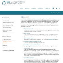 Websites and Online Resources – Learning Disabilities Association of Ontario – LDAO