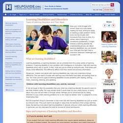 Learning Disabilities and Disorders: Types of Learning Disorders and Their Signs