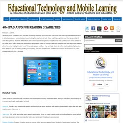 40+ iPad Apps for Reading Disabilities
