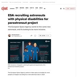 ESA recruiting astronauts with physical disabilities for parastronaut project