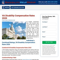 VA Disability Compensation Rates 2020 increased about 1.6% from 2019.