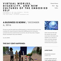 Virtual Worlds, Disability, and New Cultures of the Embodied Self