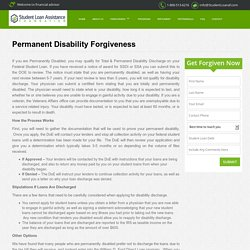 Permanent Disability Loan Forgiveness