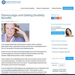 Get Disability Benefits for Fybromyalgia