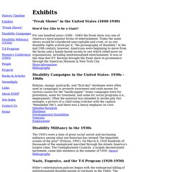 Disability Social History Project - Timeline