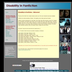 Disability in Fanfiction
