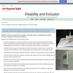 Disability and Inclusion – Universal Design Case Study: Canadian Museum for Human Rights
