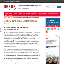 Disability Rights and Access to the Digital World