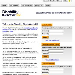 Disability Rights Watch UK