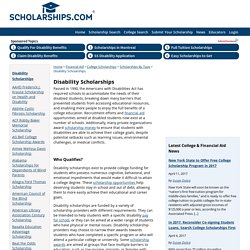 Disability Scholarships