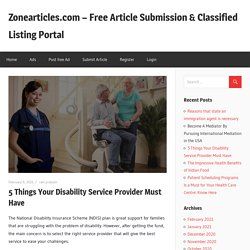 5 Things Your Disability Service Provider Must Have