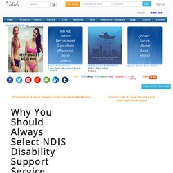 Why You Should Always Select NDIS Disability Support Service
