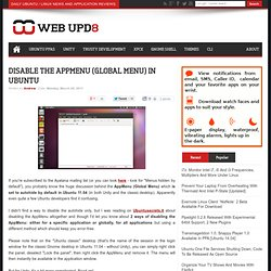 Disable The AppMenu (Global Menu) In Ubuntu 11.04
