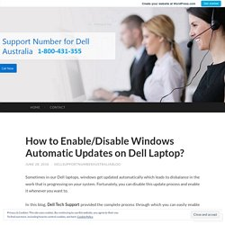 How to Enable/Disable Windows Automatic Updates on Dell Laptop?