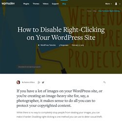 How to Disable Right-Clicking on Your WordPress Site