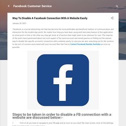 Way To Disable A Facebook Connection With A Website Easily