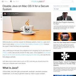Disable Java on Mac OS X for a Secure System