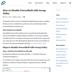 How to Disable PowerShell with Group Policy
