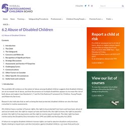 6.2 Abuse of Disabled Children - Wirral Safeguarding Children Board