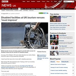 Disabled facilities at UK tourism venues 'must improve'