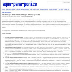 Advantages and Disadvantages of Aquaponics - aquapanaponics