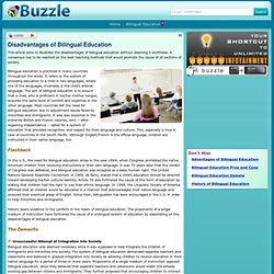 disadvantages of bilingual education essay