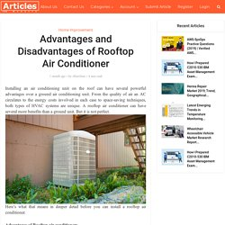 Advantages and Disadvantages of Rooftop Air Conditioner