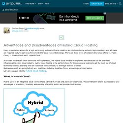 Advantages and Disadvantages of Hybrid Cloud Hosting: girdharisingh