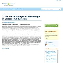 The Disadvantages of Technology in Classroom Education - College Essay - Glaydavid11